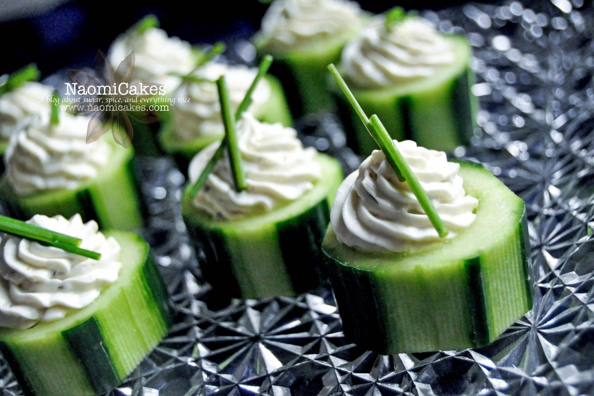 Cucumber Cups with Basil Pesto Filling